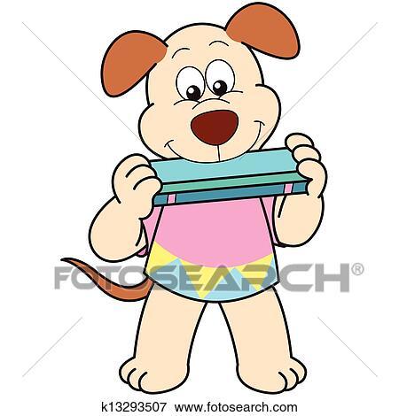clip art of cartoon dog playing a harmonica k13293507 search rh fotosearch com harmonica player clipart