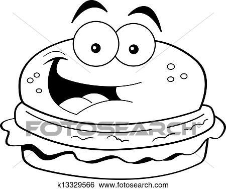 clip art of cartoon hamburger k13329566 search clipart