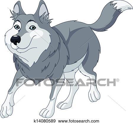 Cartoon wolf Clip Art | k14080589 | Fotosearch