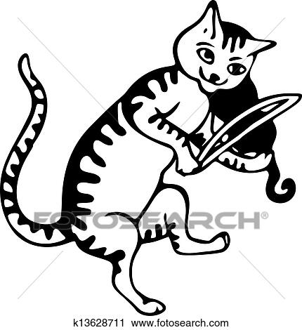 clipart of cat and the fiddle k13628711 search clip art