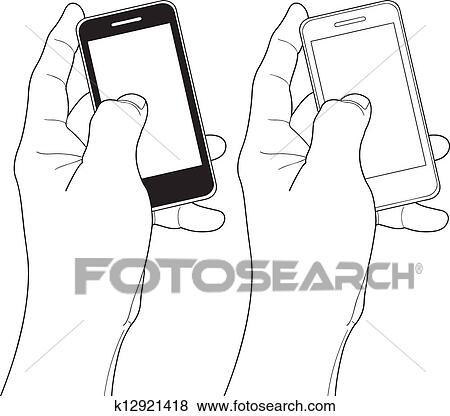 clip art of cell phone k12921418 search clipart illustration