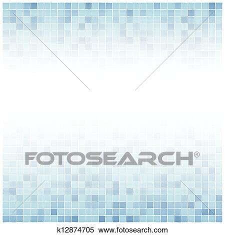 Clipart Of Center Faded Blue Tiles Background K12874705 Search