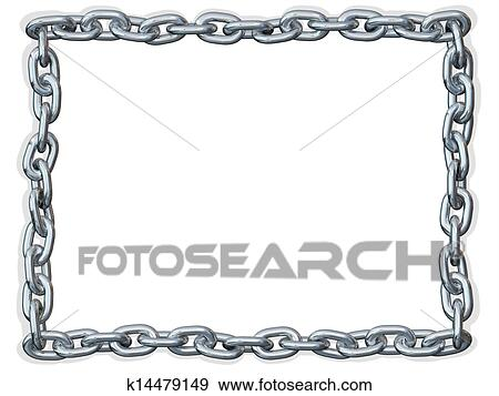 Stock Photograph Of Chain Link Frame Border K14479149 Search Stock