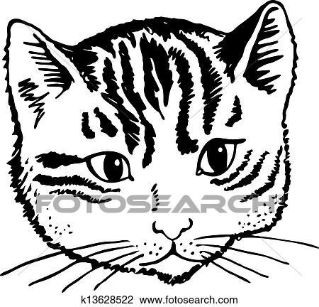 Chat Portrait Dessin