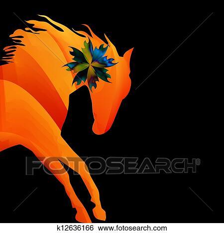 Clipart cheval amende vecteur silhouette couleur k12636166 recherchez des cliparts des - Clipart cheval ...