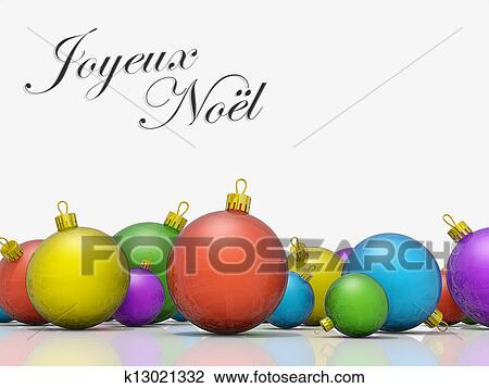 a row of christmas ornaments with the text merry christmas in french - Merry Christmas French
