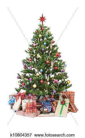 Christmas Tree With Presents Stock Photo K10804357 Fotosearch