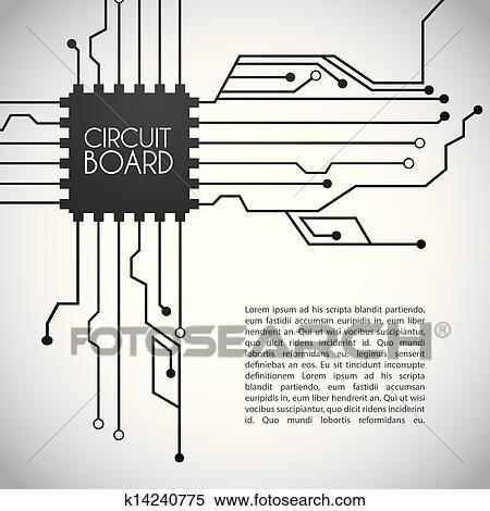 clipart of circuit board design k14240775 search clip art rh fotosearch com
