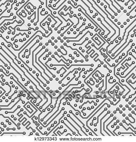 Clipart of Circuit board vector computer seamless pattern k12973343 ...