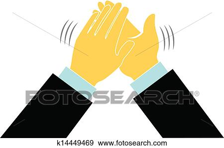 Clap hands business logo Clip Art | k14449469 | Fotosearch