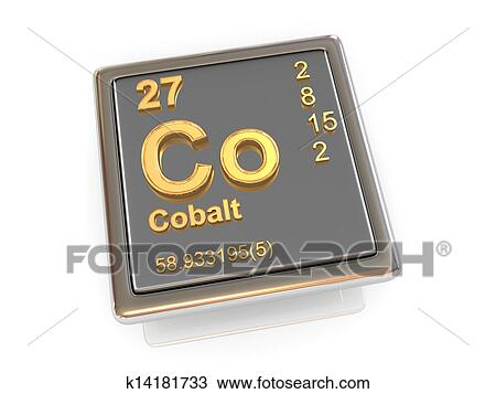 Drawing Of Cobalt Chemical Element K14181733 Search Clipart