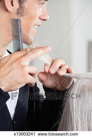 Banques De Photographies Coiffeur Decoupage Personne Agee Femme