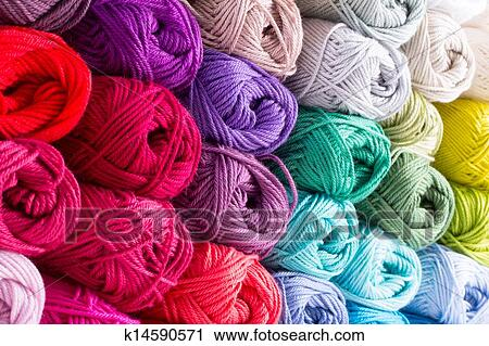 Color yarn Stock Image | k14590571 | Fotosearch