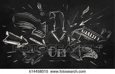 clipart of composition of arrows chalk k14458015 search clip art