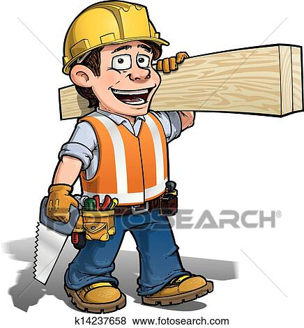 clip art of constraction worker carpenter k14237658 search rh fotosearch com carpentry clipart images carpenter clip art free downloads