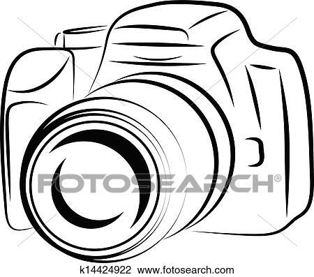 Dessin Appareil Photo clipart - contour, appareil photo, dessin k14424922 - recherchez des