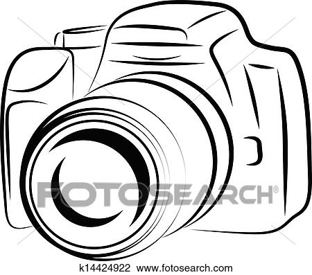 Clipart Of Contour Camera Drawing K14424922