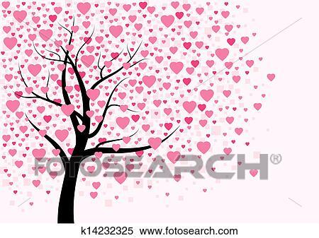 Clipart Coração árvore Desenho K14232325 Busca De Ilustrações
