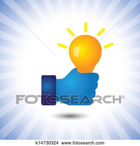 Creative Smart Intelligent Person With Ideabulb Vector Graphic The Illustration Can Also Represent Concept Of Clever Ability To Solve