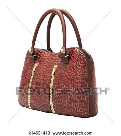 Stock Illustration Crocodile Leather Handbag Isolated Fotosearch Search Vector Clipart Drawings