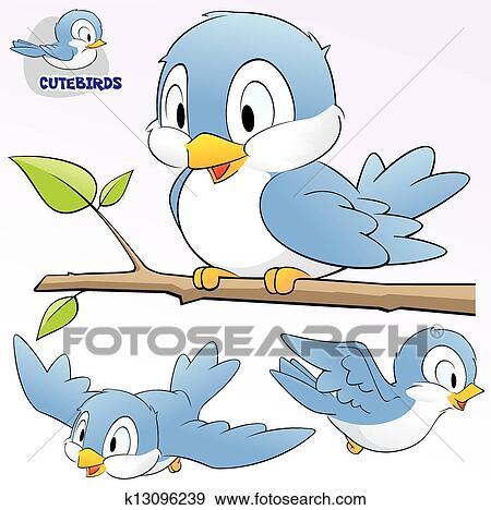 Cute Cartoon Birds Clip Art K13096239 Fotosearch