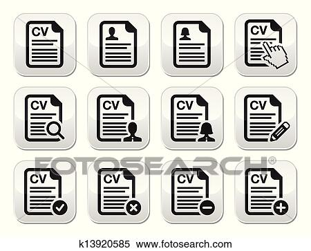 Clipart Of Cv Curriculum Vitae Resume Vecto K13920585 Search