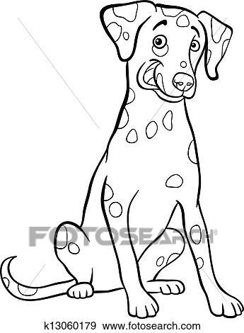 Klip Art Dalmaçyali Köpek Karikatürize Et Dolayi Coloring