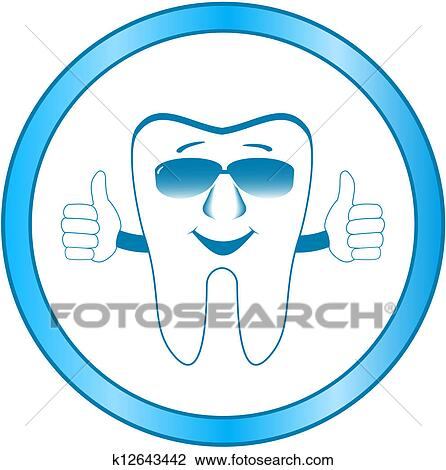 Clip Art of dental clinic symbol with smile too k12643442 ...