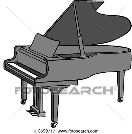 Dessin De Piano clipart - dessin animé, piano k13599717 - recherchez des cliparts