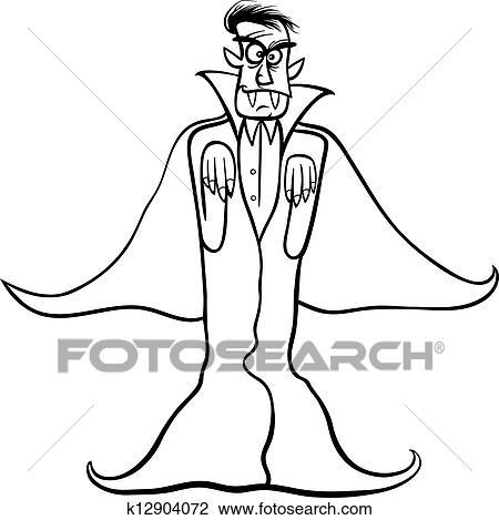 Drakula Vampir Karikatur Für Ausmalbilder Clipart