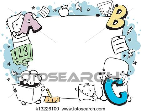 Clipart of Education Doodle Frame k13226100 - Search Clip Art ...