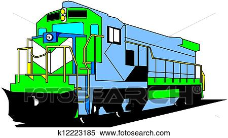 clipart of electric locomotive k12223185 search clip art rh fotosearch com locomotive train clipart diesel locomotive clipart
