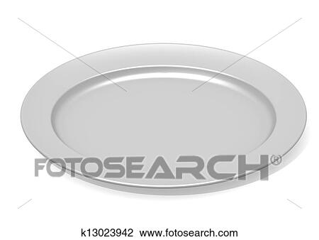 Clip Art Of Empty Plate K13023942 Search Clipart Illustration