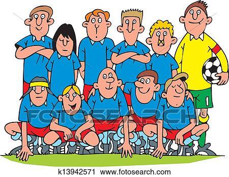 Clipart - equipe futebol k13942571 - Busca de Ilustrações 6242f3b2d38f5