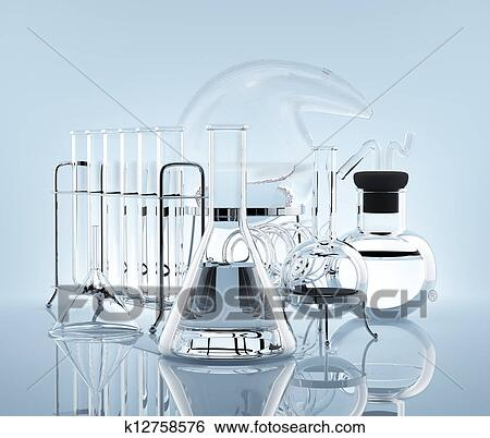 Equipment for chemistry experiments Stock Photograph