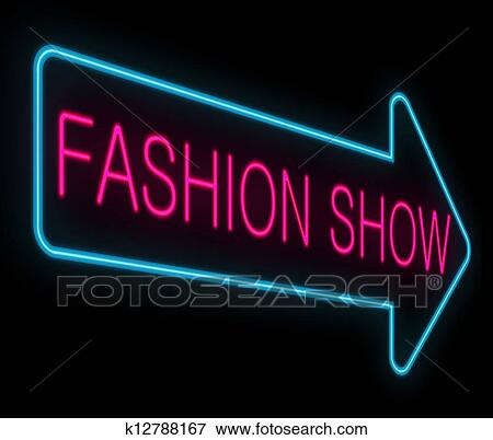 stock illustration of fashion show concept k12788167 search eps rh fotosearch com fashion show models clipart fashion show clipart black and white