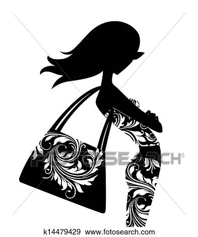 Stock Illustration Of Fashion Silhouette K14479429