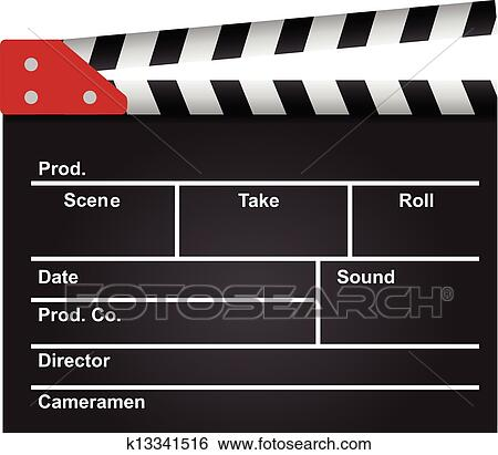 clip art of film clapperboard k13341516 search clipart