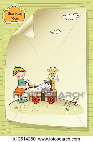 Clipart Of First Birthday Card K13614350 Search Clip Art
