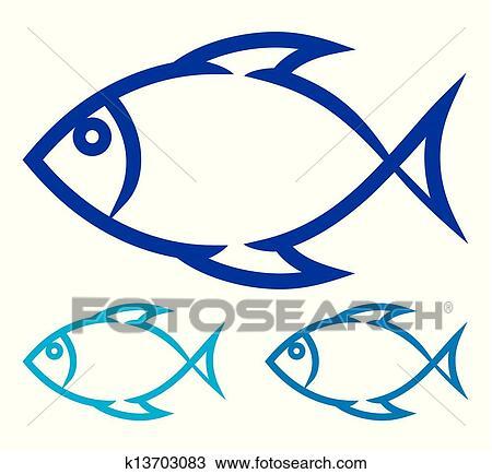 Clipart Of Fish Symbol K13703083 Search Clip Art Illustration