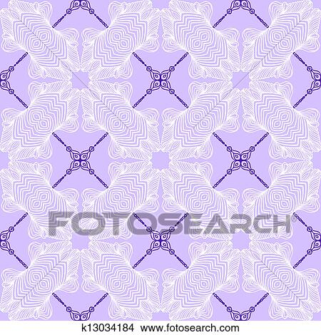 Clipart of floral purple blueprint pattern k13034184 search clip clipart floral purple blueprint pattern fotosearch search clip art illustration murals malvernweather Gallery