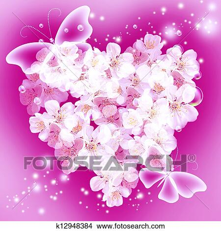Dibujos Flores En Forma Corazón K12948384 Buscar Clip Art