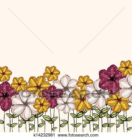 flowers garden clipart k14232981 fotosearch fotosearch