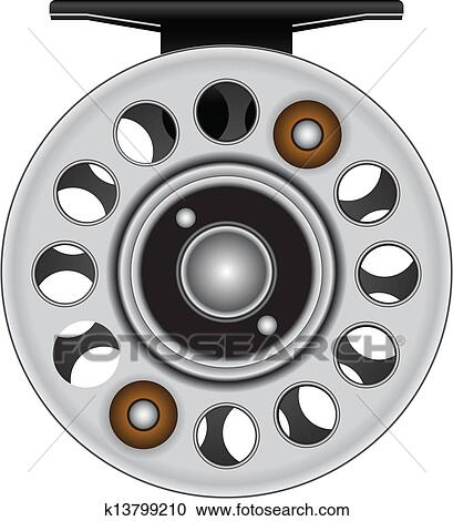 clipart of fly fishing reel k13799210 search clip art