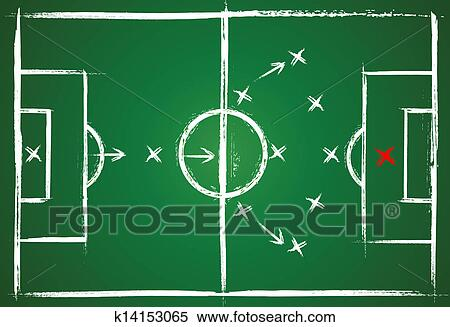 Clipart Of Football Positions Teamwork Strategy K14153065 Search