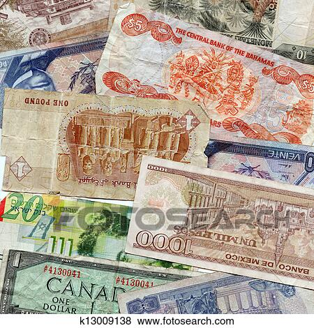 Detailed Images Of Foreign Currency