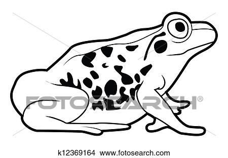 Clipart Of Frog Sign K12369164