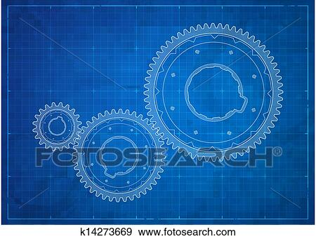 Clip art of gears blueprint business concept k14273669 search gears business concept vector blueprint eps 10 format malvernweather Choice Image