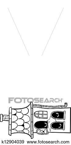 Clip Art Geisterbahn Karikatur Für Färbung K12904039 Suche