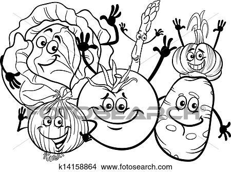 Clipart Gemuese Gesellschaft Karikatur Für Ausmalbilder
